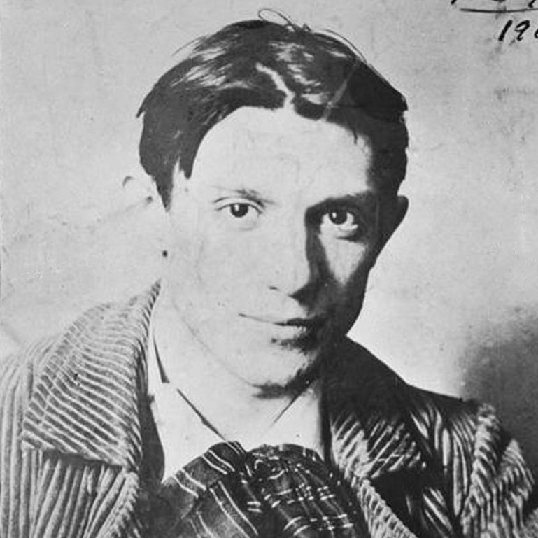 Photograph of Picasso in 1904