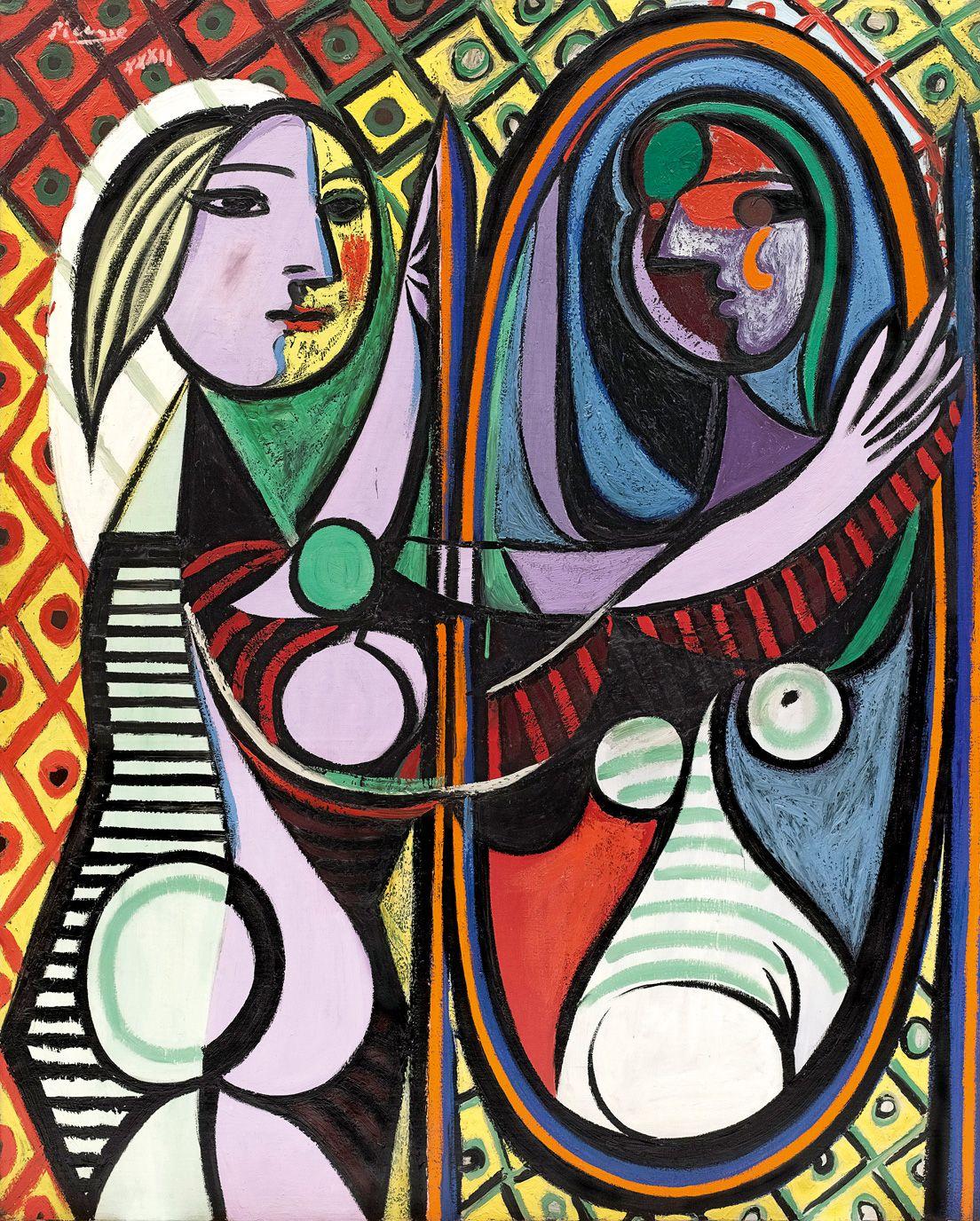 Pablo Picasso, Girl Before a Mirror (Jeune Fille devant un miroir)