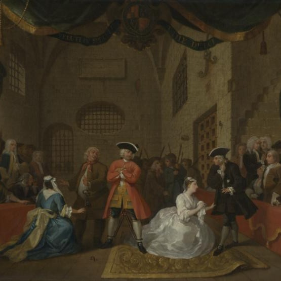 'A Scene from 'The Beggar's Opera'' by the artist William Hogarth