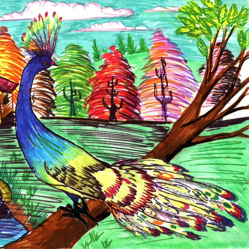 'Paesaggio Fantastico (Fantasy Landscape)' by the artist Petrit Halilaj